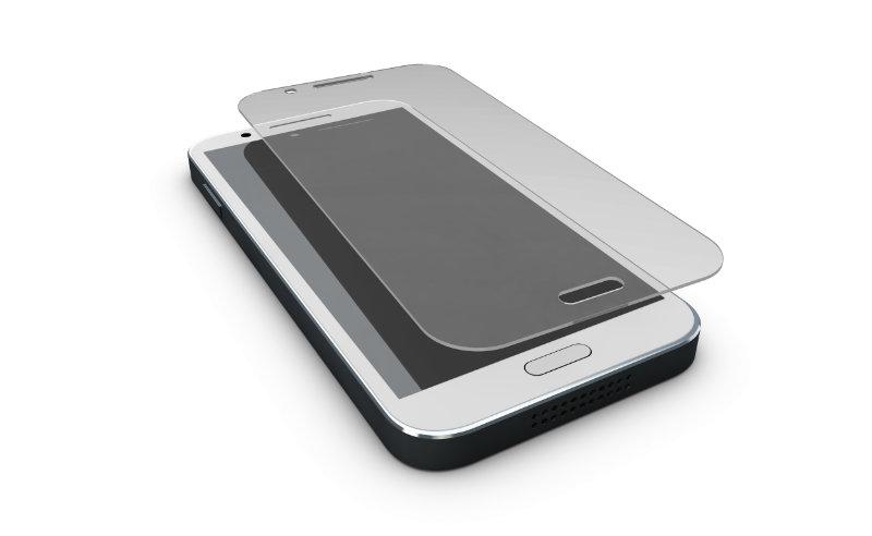Une protection d'écran en verre trempé pour smartphone